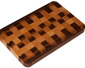 Walnut and Maple End Grain Cutting Board (Ready to Ship)