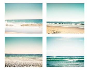 nautical decor beach photography print set 5x7 8x10 fine art photography ocean waves photography water ripple teal blue pastel decor coastal