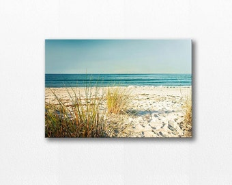 canvas print canvas photo beach print beach photo 12x12 24x36 fine art photography canvas wall art canvas art large ocean photography cream
