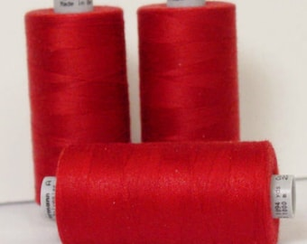 GUTERMANN Mara 100 Polyester Thread ONE (1) Spool 1,094yd  RUBY Red 226