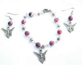 Fairy Bracelet (or Anklet) and Earrings Set  -