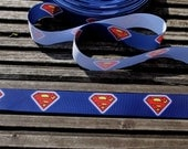 Superman Superhero grosgrain ribbon 22mm wide