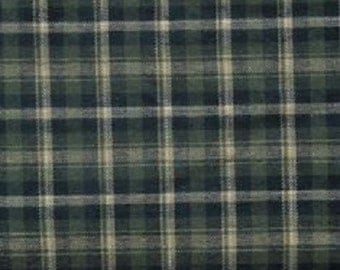 Cotton Flannel Plaid 4 Tartan Fabric by the Yard