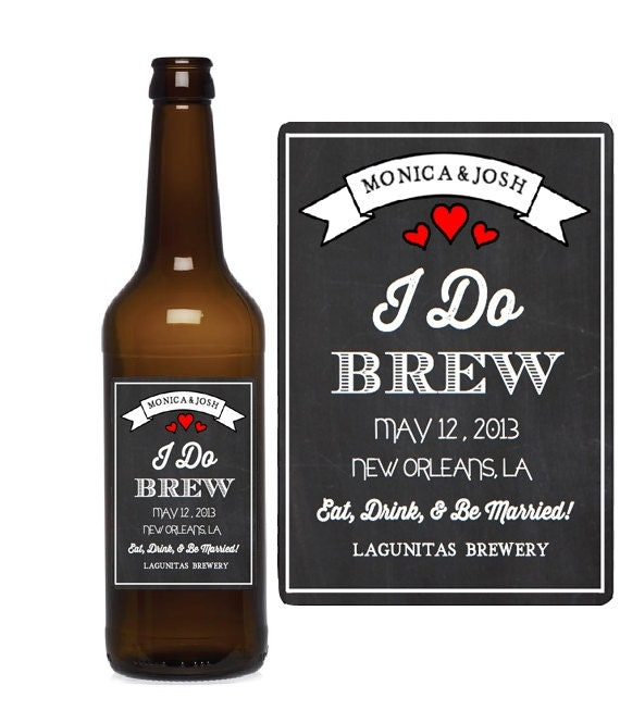 Custom Beer Bottle Labels Personalized Wedding By: Custom Beer Labels I Do Brew Chalkboard By ThePetitePackage