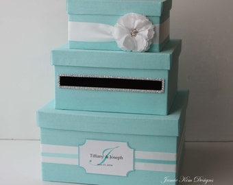 Wedding Card box, Tiffany Box, Money Box- Custom Made