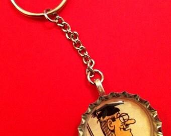 Handmade Vintage Bash Street Kids Teacher Key Chain