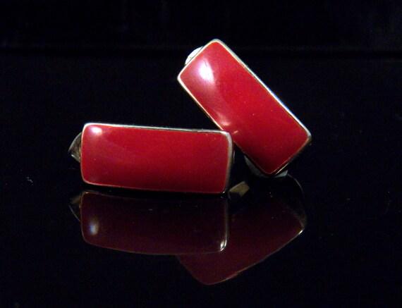 Vintage Earrings Red Earrings Pierced Earrings Vintage Costume Jewelry Cluster Earrings Red Jewelry Vintage Jewelry Free Shipping to USA