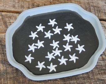White Star Fish Cabochon Flat Back 19mm Set of 20