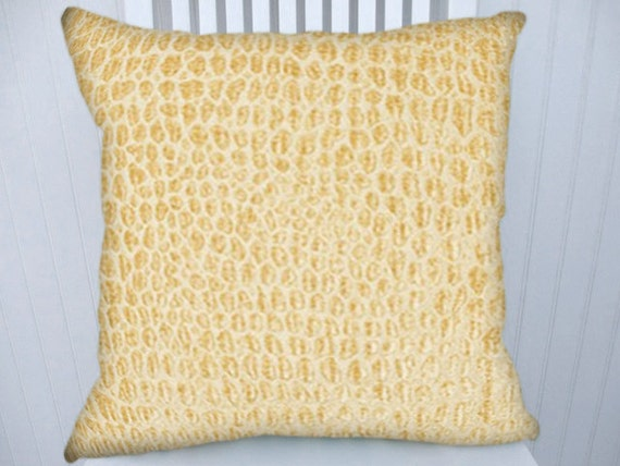 Beige Chenille Pillow Cover--Decorative  Throw Pillow--Sandy Beige, Accent 18x18 or 20x20 or 22x22