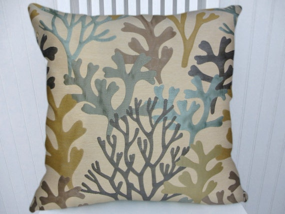 22x22 Decorative Pillows : Items similar to Coral Decorative Pillow Cover- 18x18 or 20x20 or 22x22 Throw Pillow, Accent ...