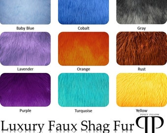 Luxury Faux Shag Fur by Posey Pillow ~ 9 Color options and 4 size options.