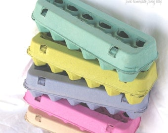 Colored Egg CaRToNs--3 --full dozen size-fill with mini cupcakes,easter eggs, cookies, fruit, hold cakepops or peep pops-3ct