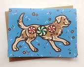 Labrador Retriever Gingerbread Cookie Christmas Winter Holiday Greeting Card