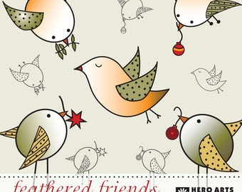 Instant Download Hero Arts Feathered Friends DK029 Bird Digital Kit