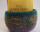 felted wool bowl container jewelry holder desktop storage jade mix