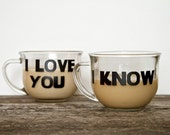 Star Wars Decal I Love You I Know Mug Decal Set, Coffee Mug Decal, Featured on Etsy Front Page, Made in the USA with NON TOXIC Vinyl