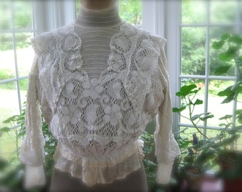 Edwardian Lace Wedding Blouse - to ensure your Marriage doesn't go down like the Titanic ...