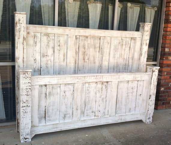 Barn Wood Bedroom Furniture: Reclaimed Wood Bed Rustic Furniture/king Size Bed/bed