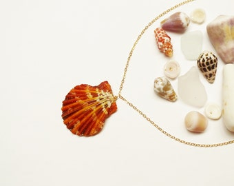 Tahitian Sunrise Shell 14k Gold Filled Chain Necklace