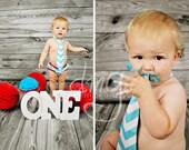 boy cake smash outfit, aqua chevron and red birthday outfit, aqua and white chevron diaper cover and tie set