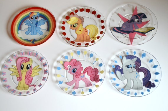 My Little Pony glass plate set - Mane 6