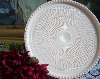Jeannette Pink Milk Glass Cake Stand - Shell Pink Milk Glass Cake Stand - Wedding Cake Stand - Jeannette Pink Cake Stand - Pink Wedding