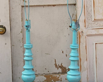 Brass Lamps Painted Lady Blue By Foo Foo La La