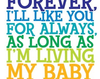 I Ll Love You Forever Book Quotes Alluring Robert Munsch Quote  Etsy