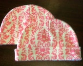 Reserved***Damask Beanies