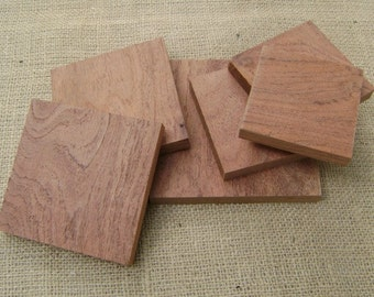 Texas Mesquite Wood Tiles Scroll Saw Balnks Wood Crafters Blanks Lumber Woodworking Supply Set of 6 ssb#4
