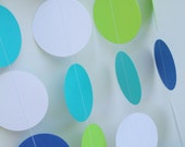 Baby shower- Birthday party decor- Paper garland, Whale theme, Little man, Baby boy, 5 feet long