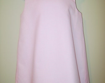 Pink Gingham A-line Dress/Jumper Blank for Applique, Embroidery/Embroidering, Embellishment, Sizes 6m-8, Multiple Colors Avail.