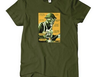 Women's Remedy T-shirt - S M L XL 2x - Vintage Army Tee - Ladies - 2 Colors