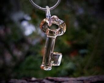 Golden Gatekeeper The Hierophant Tarot High Priest Key Amulet Artisan Fantasy Jewelry Akashic Spiritual Metaphysical Religious Talisman