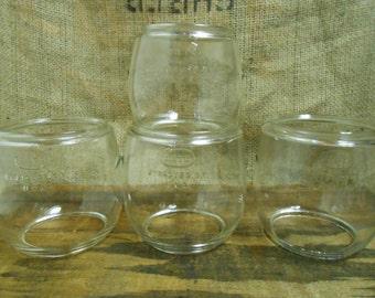 Vintage Deitz Clear Glass Lantern Globes Lot of 4 Loc- Nob 3 D- Lite and  1 Little Wizard