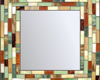 Stained Glass Mosaic Mirror