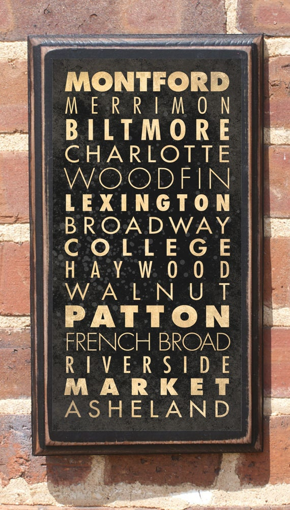 asheville nc downtown streets transit subway scroll antique