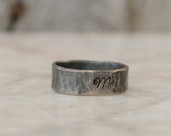 Personalized Ring  - Sterling Silver Personalized Initial Ring