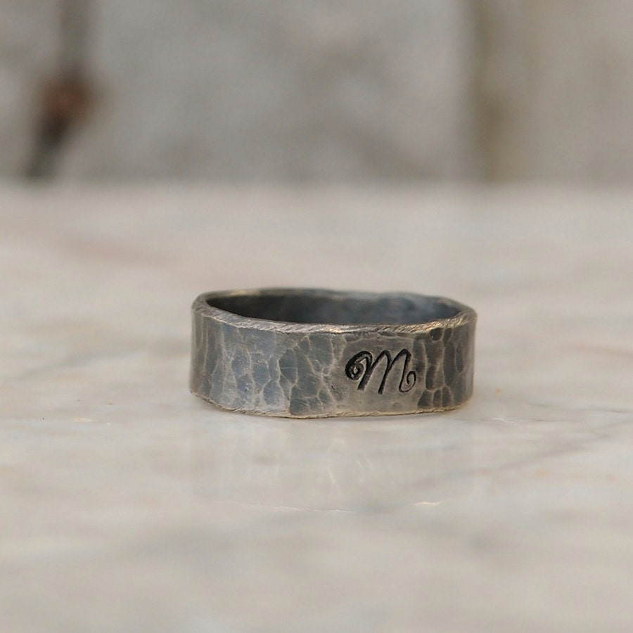 personalized ring sterling silver personalized initial ring