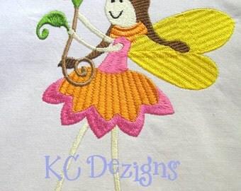 Garden Fairies 06 Machine Embroidery Design - 4x4, 5x7 & 6x8