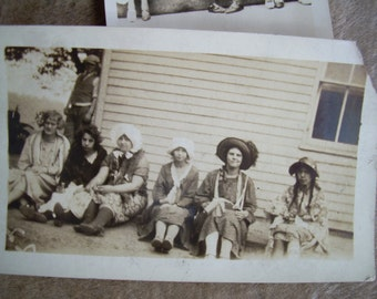 1920's Snapshot Photos - Ladies in Costumes and Hats