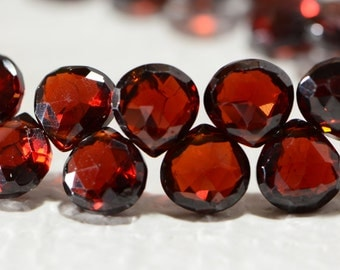 Garnet Faceted Beads Natural Gemstone Beads Jewelry Making Supplies