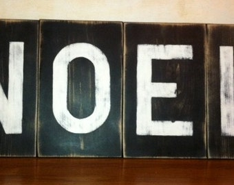 Large Rustic Wooden Letters