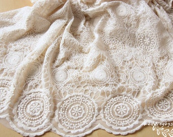 lace fabric, embroidered lace fabric, retro lace