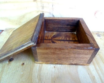 Vintage wooden box wood box treasure box