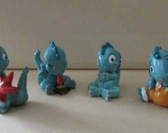 Vintage Kinder Surprise Germany Set of 4 Dragons Kinder Egg Figurines