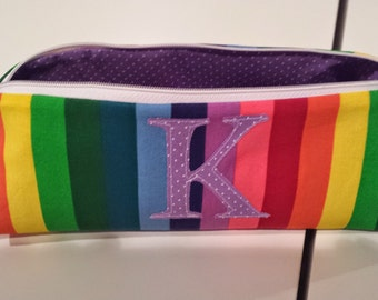 Monogrammed Zippered Pencil Case