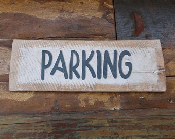 Beach decor Parking sign Nautical Wooden Distressed by SEASTYLE