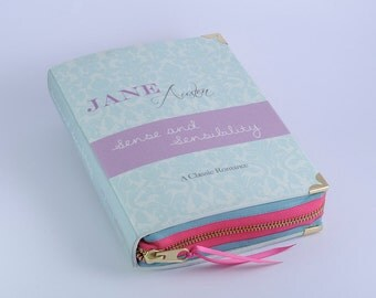 Jane Austen Sense and Sensilbility Book Clutch