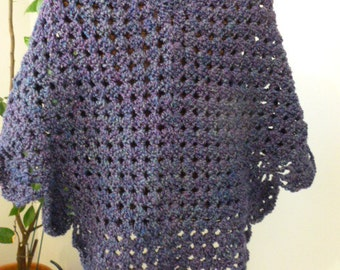 Martha Stewart Style Coming Home Poncho--Crocheted